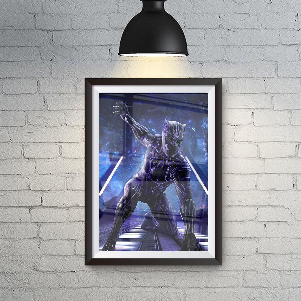 Quadro Decoração Geek Pantera Negra traje com Energia Cinética