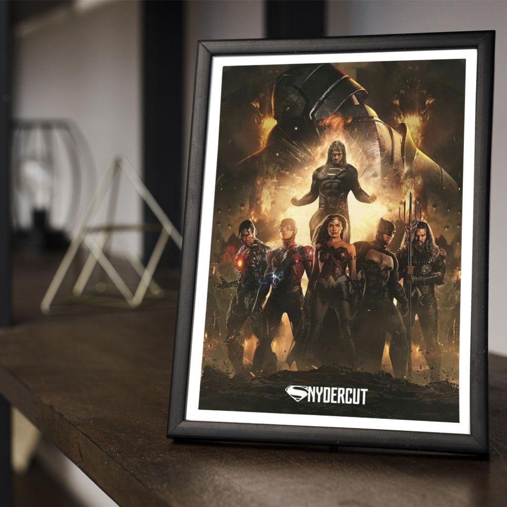 Quadro Decoração Geek Liga da Justiça de Zack Snyder Poster Fanarte #2