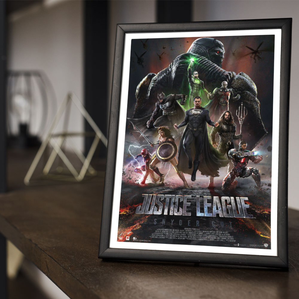 Quadro Decoração Geek Liga da Justiça de Zack Snyder Fanarte Off #1