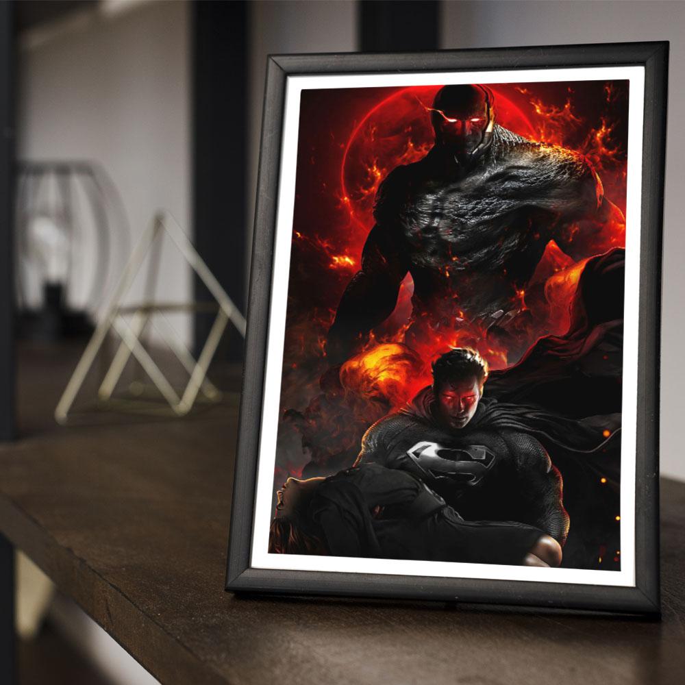 Quadro Decoração GeeK Filme Liga da Justiça de Zack Snyder Cut Fanarte #3