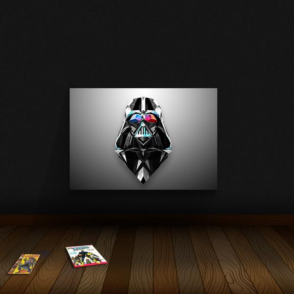 Quadro Decoração Geek Darth Full Colors Vader Star Wars