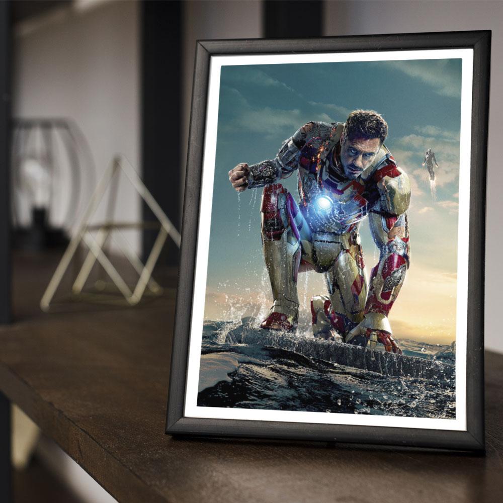 Quadro Decoração Geek Homem de Ferro 3 Marvel