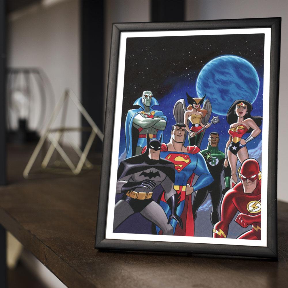 Quadro Decoração Geek HQ Liga da Justiça Sem Limites