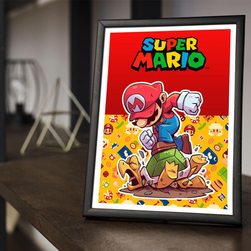 Quadro Decoração Geek Super Mario
