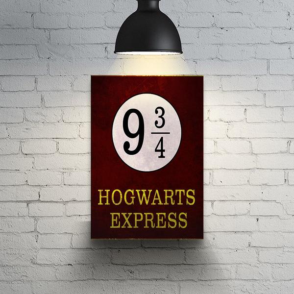 Quadro Decoração Geek Plataforma 9.3/4 Hogwarts Express