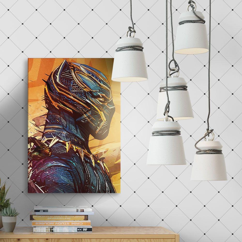 Quadro Decoração Geek Pantera Negra Marvel