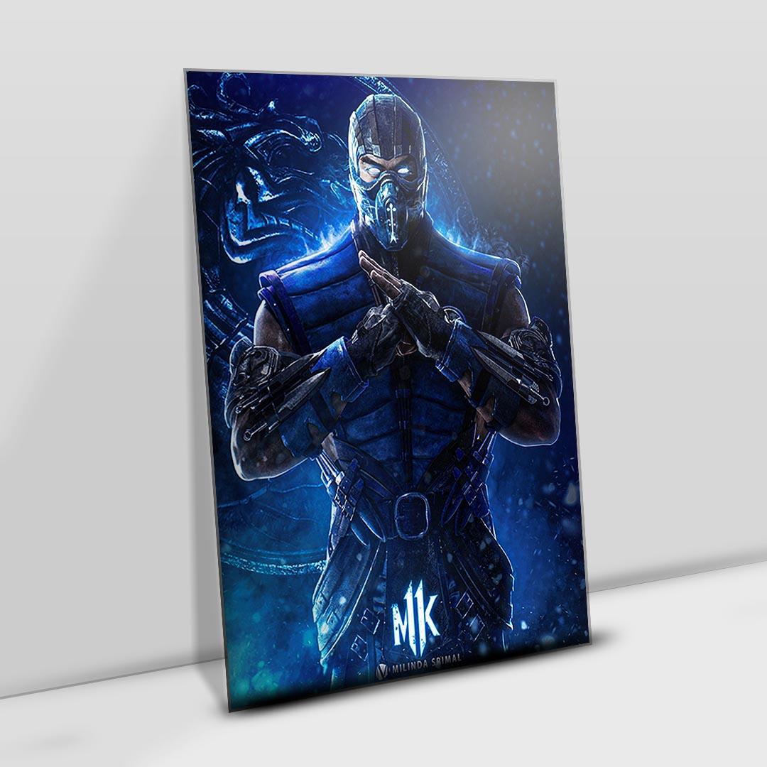 Quadro Decoração Geek Sub Zero Mortal Kombat 11 2021