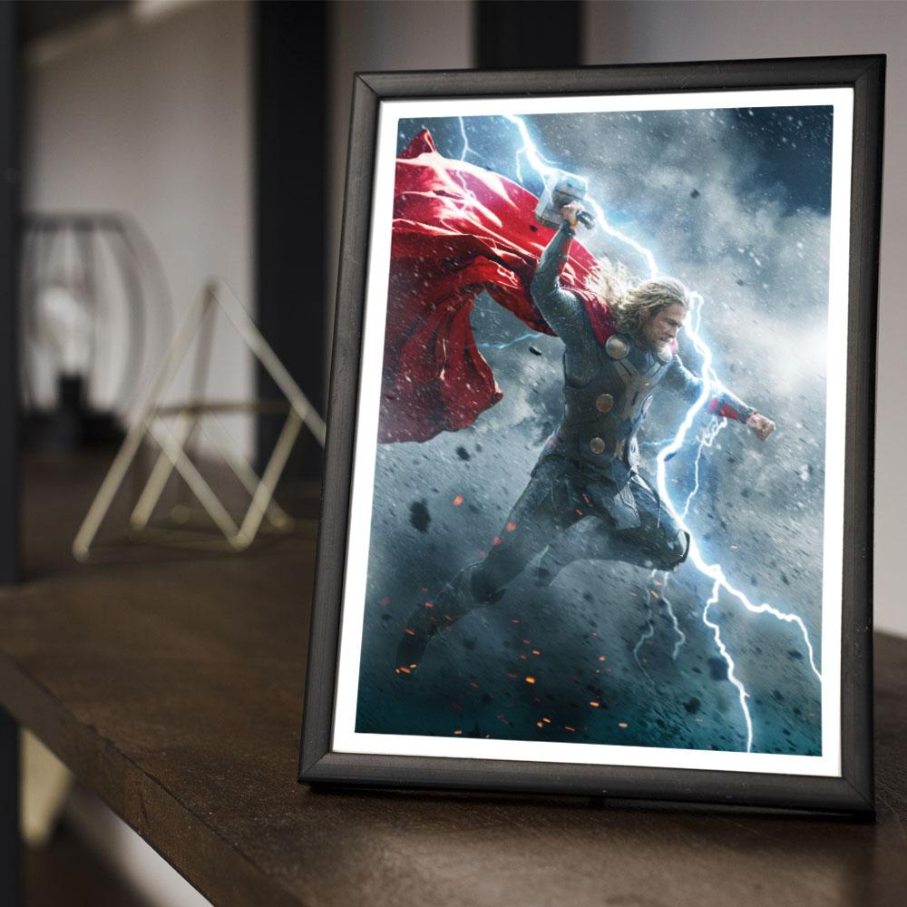 Quadro Decoração Geek Filme Thor 2 em o Mundo Sombrio