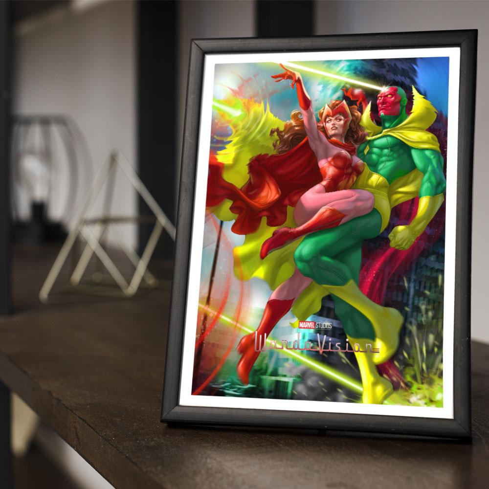 Quadro Decoração Geek HQ WandaVision Marvel