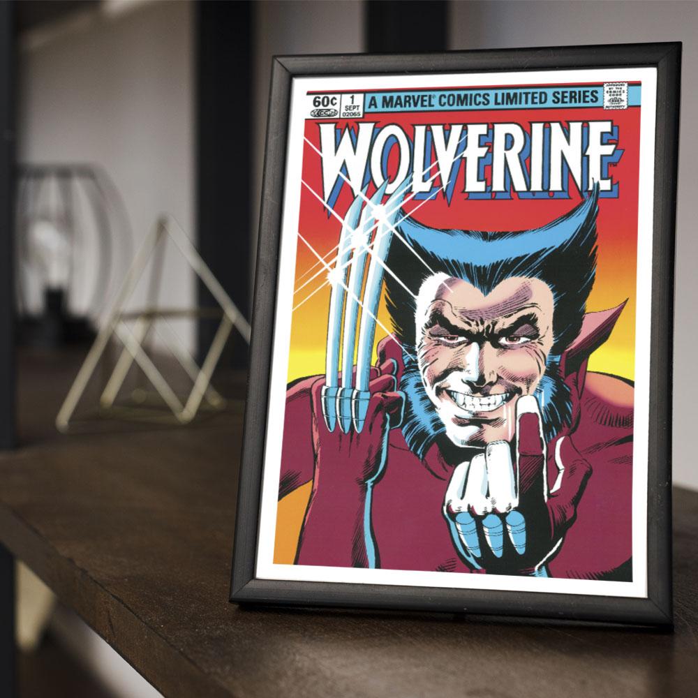 Quadro Decoração Geek HQ Wolverine Logan X-Man Marvel Comics