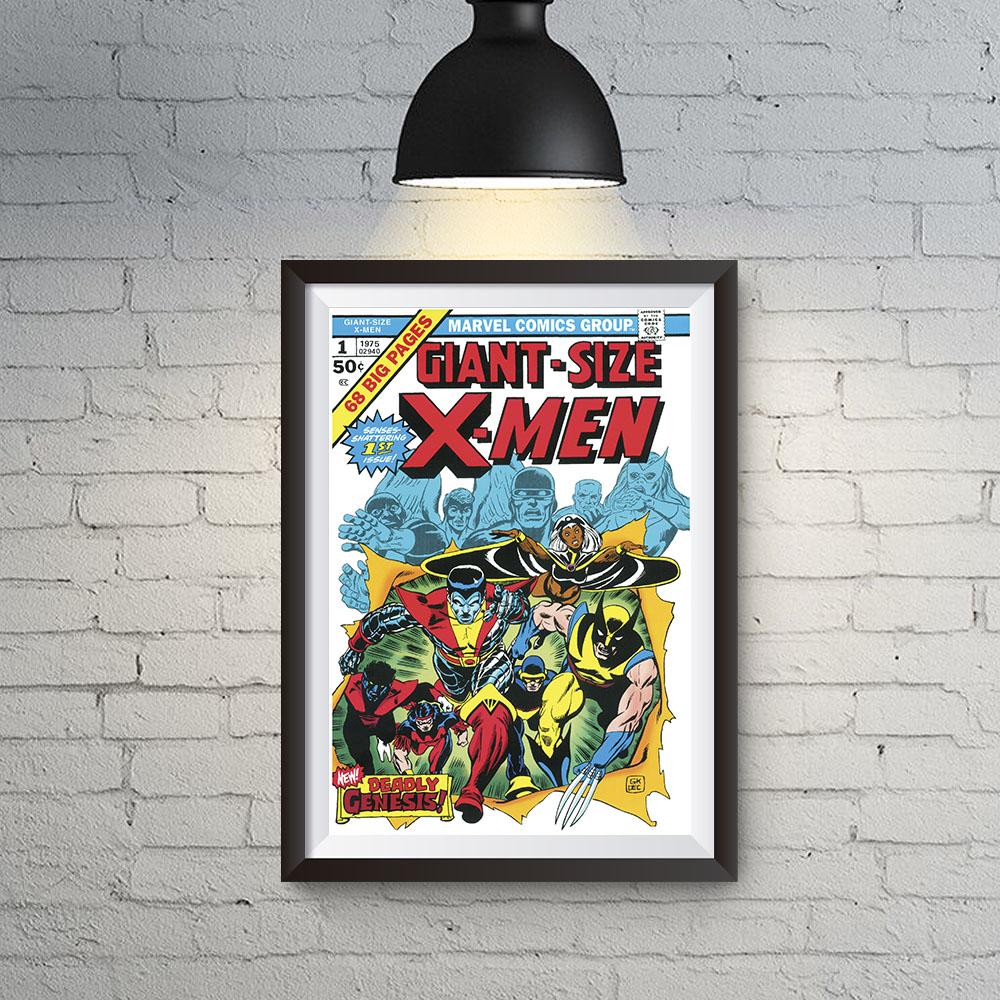 Quadro Decoração Geek HQ X-Man Giant-Size 1975 Marvel Comics