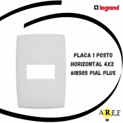 618505 Placa 1 Posto Horizontal 4x2 PIAL PLUS LEGRAND