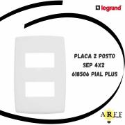 618506 Placa 2 Posto Sep 4x2 PIAL PLUS LEGRAND
