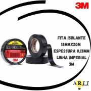Fita Isolante 18mmx20m Espessura 0,13mm Linha Imperial 3M