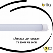 Lâmpada Led Tubular T8 4000k 9W 60cm BRILIA