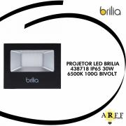PROJETOR LED BRILIA 438718 IP65 30W 6500K 100G BIVOLT