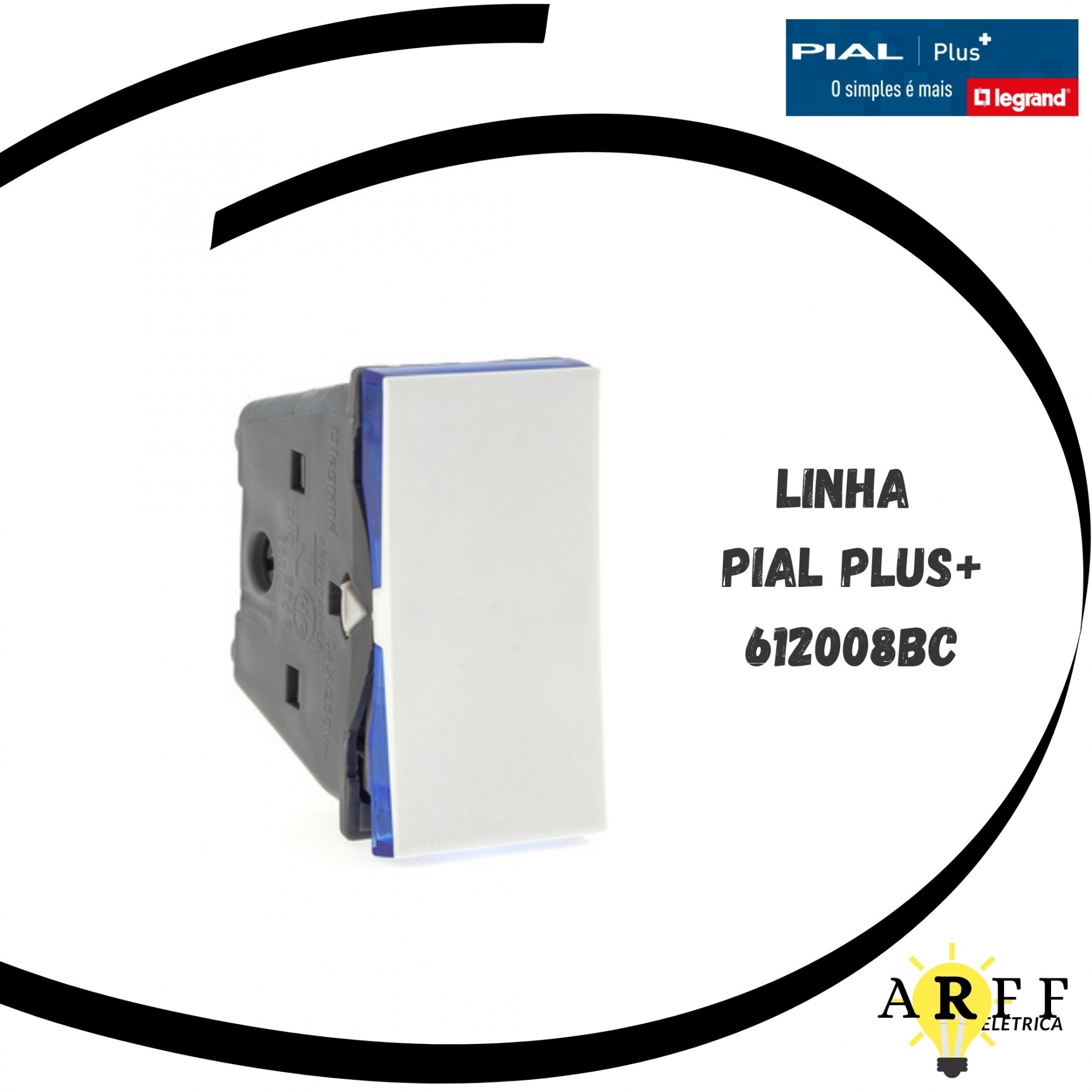 612008BC - INTERRUPTOR BIP PARALELO 10A VR PialPlus+