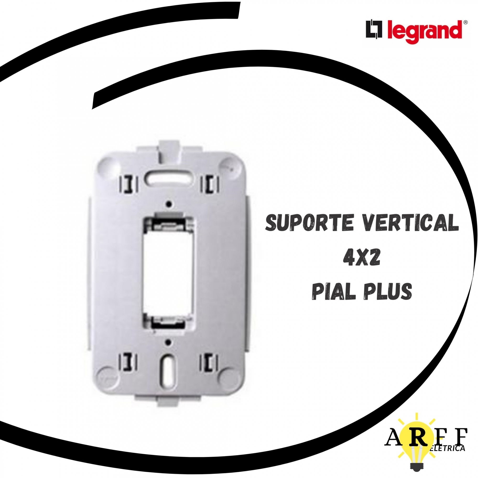 612121 Suporte para caixa 4x2 modulo vertical PIAL PLUS LEGRAND