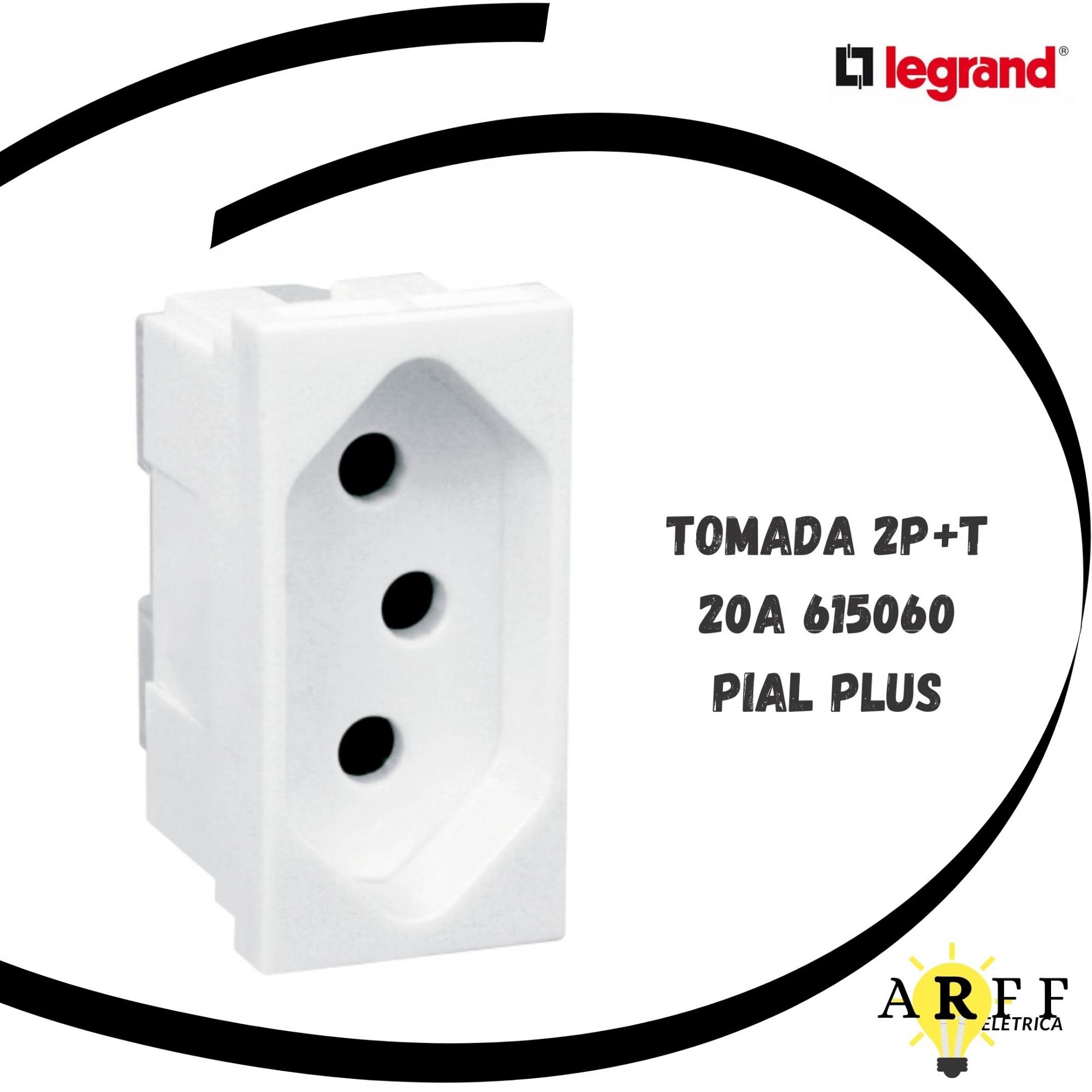 615060 Tomada 2P+T 20A - PIAL PLUS LEGRAND