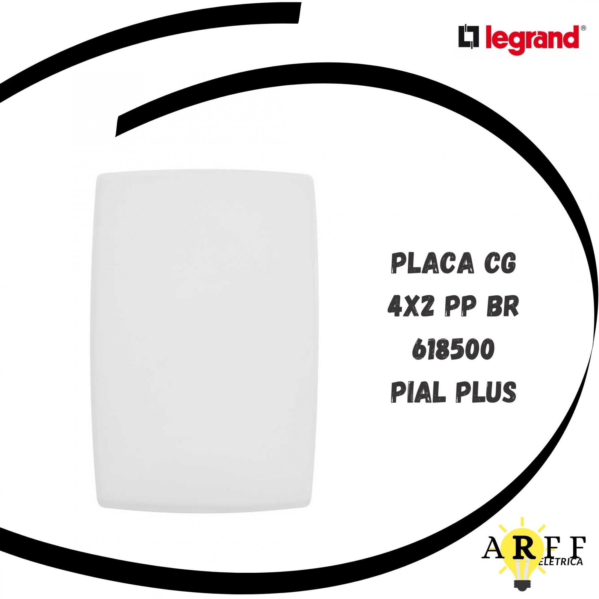 618500 Placa Cega 4x2 PIAL PLUS LEGRAND