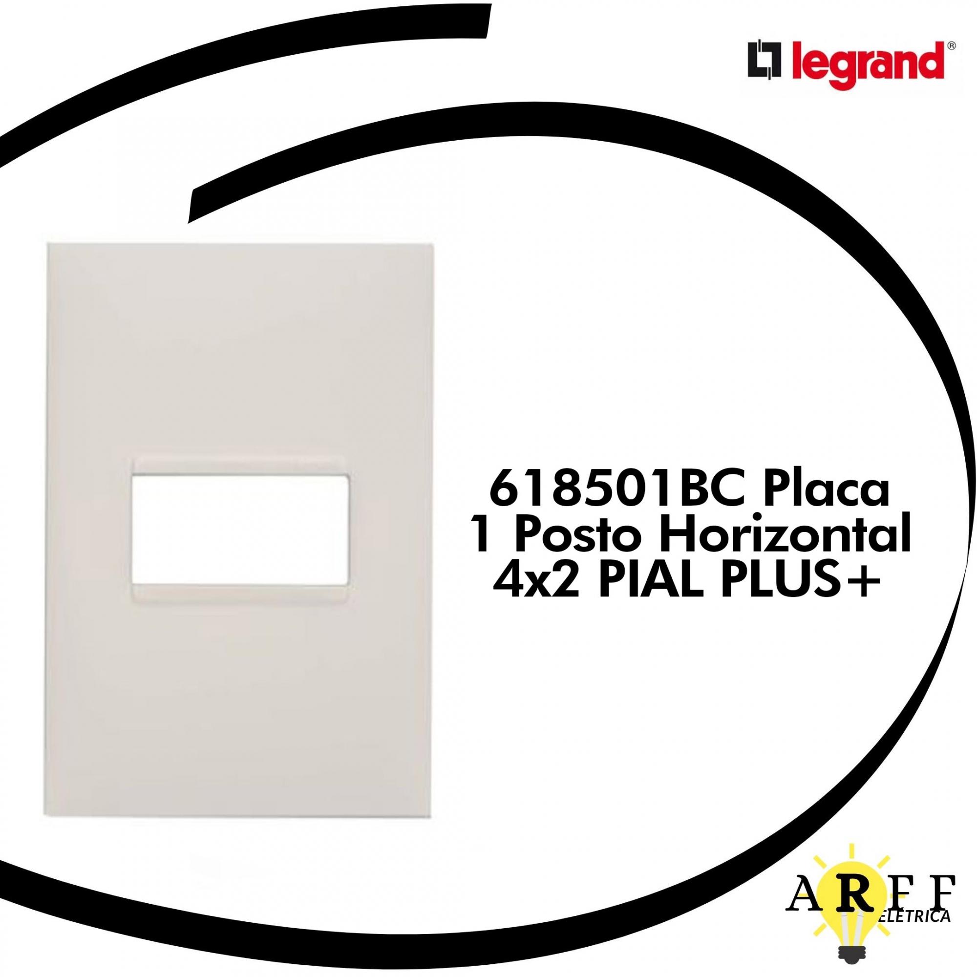 618501BC Placa  1 Posto Horizontal 4x2 PIAL PLUS+