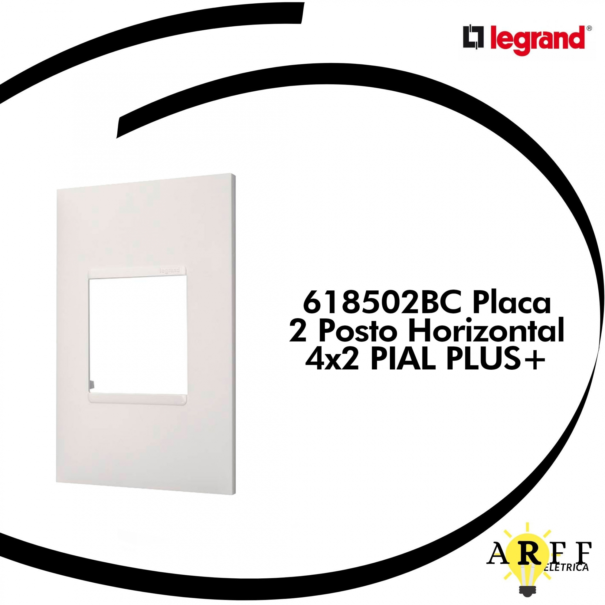 618502BC Placa  2 Posto Horizontal 4x2 PIAL PLUS+