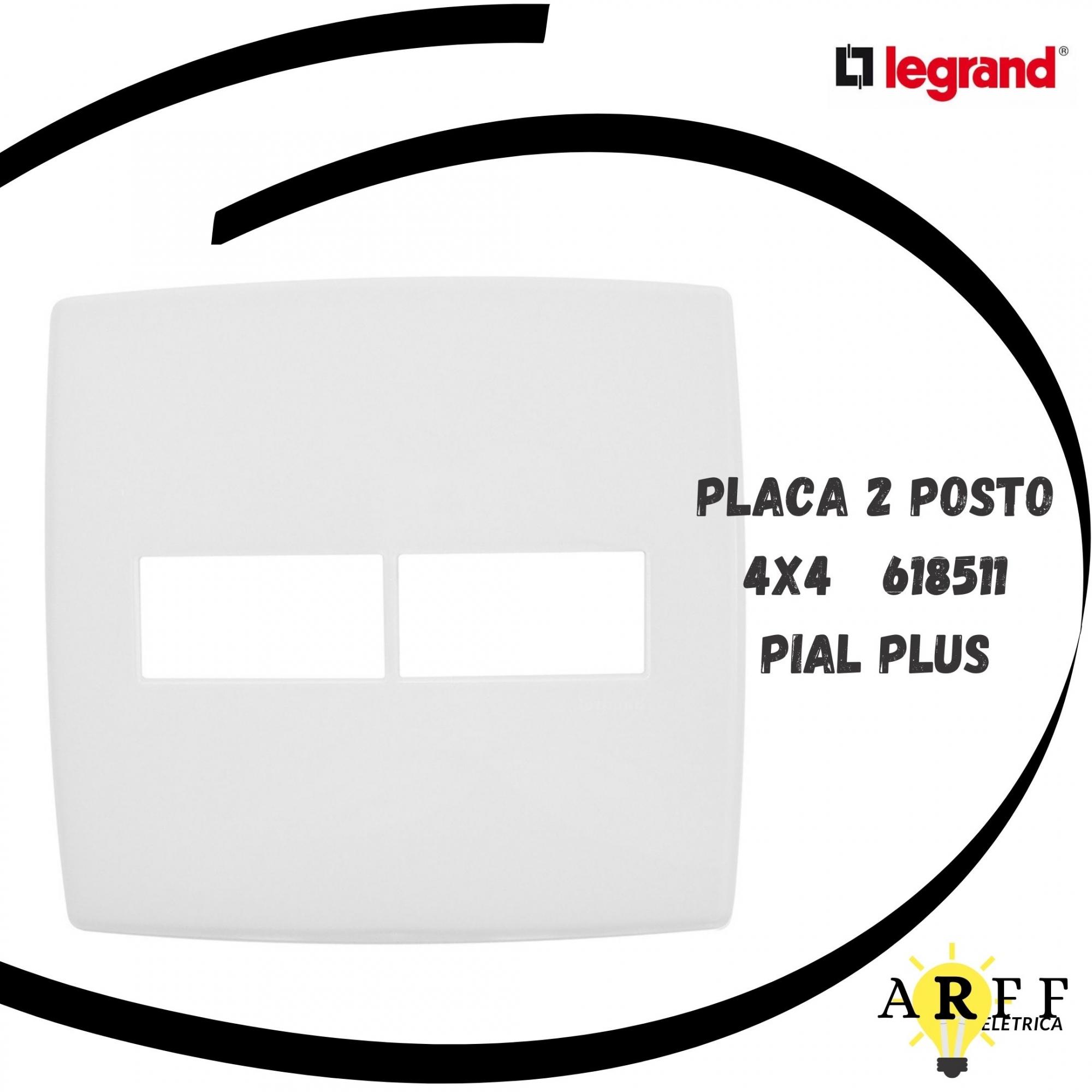 618511 Placa 2 Posto Sep 4x4 PIAL PLUS LEGRAND
