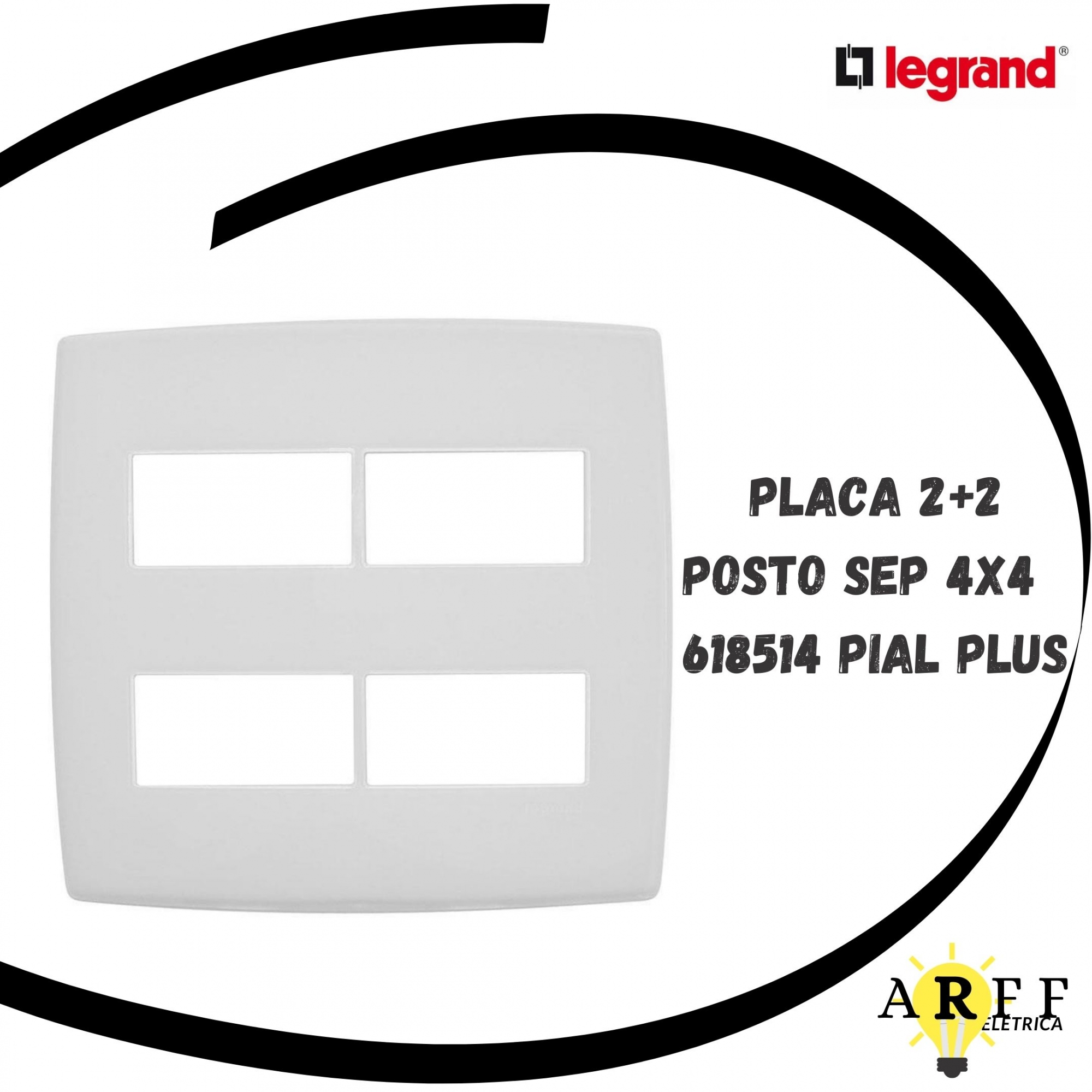 618514 Placa 2+2 Posto Sep 4x4 PIAL PLUS LEGRAND