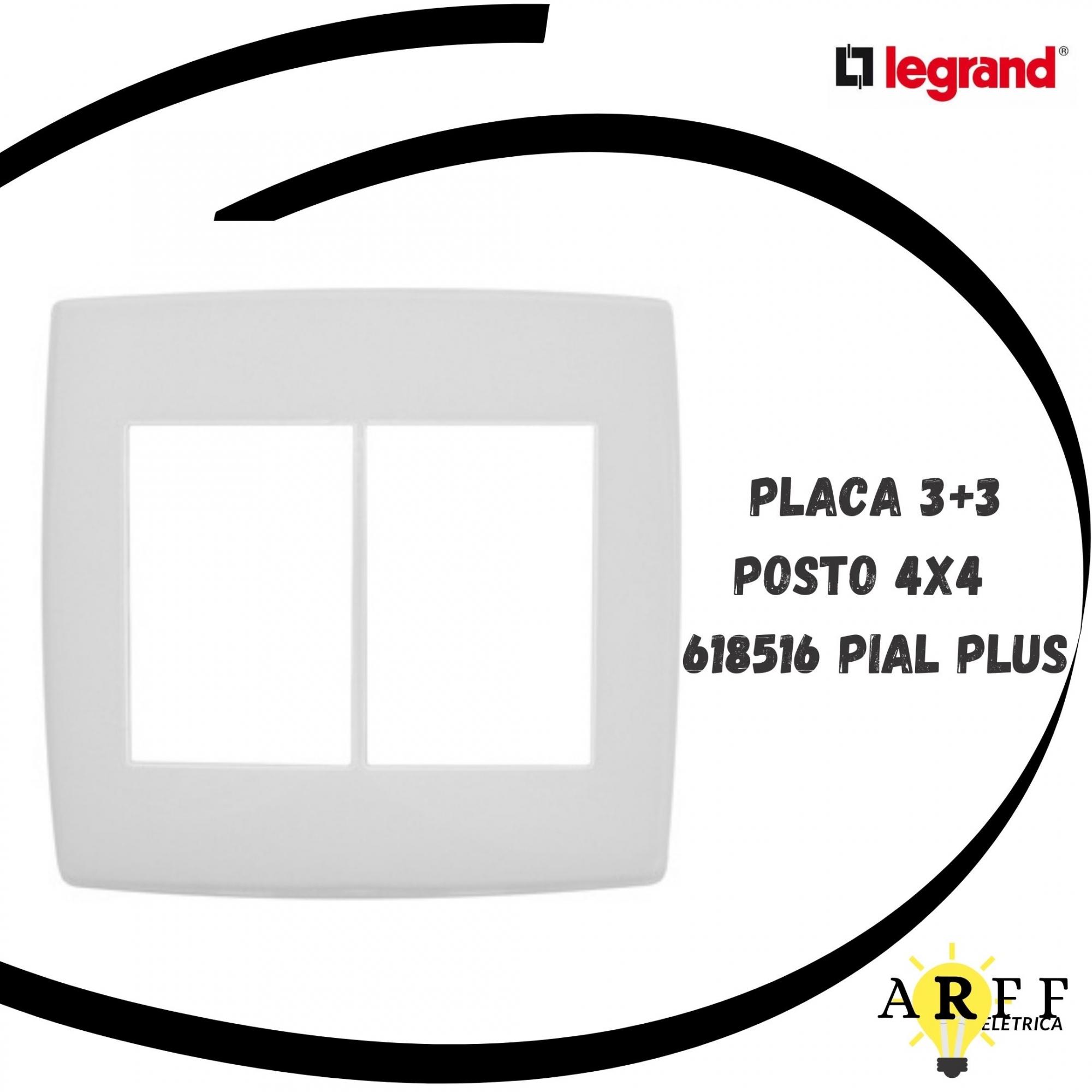 618516 Placa 3+3 Posto 4x4 PIAL PLUS LEGRAND