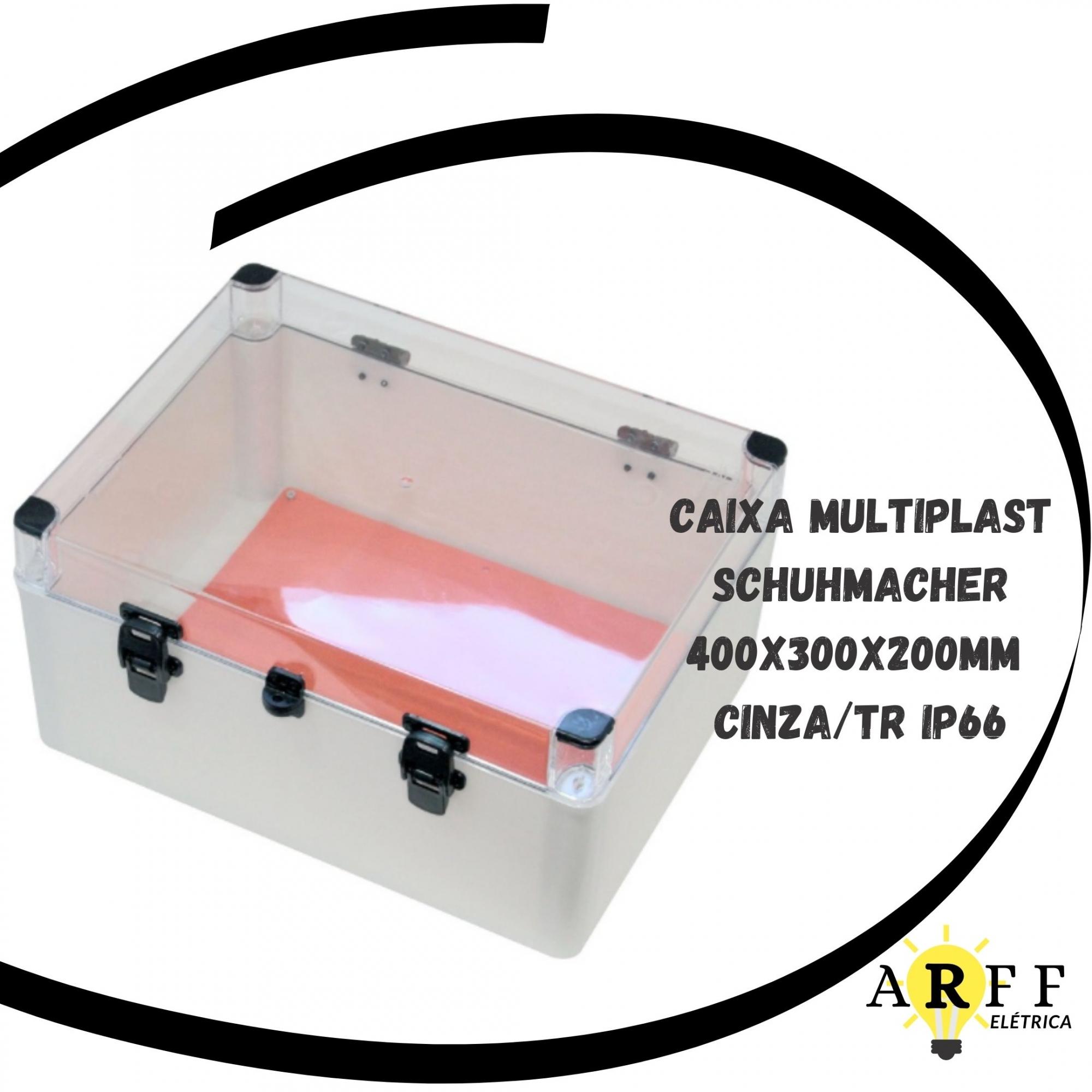 Caixa Multiplast 400x300x200mm Cinza  Ip-66 Schuhmacher