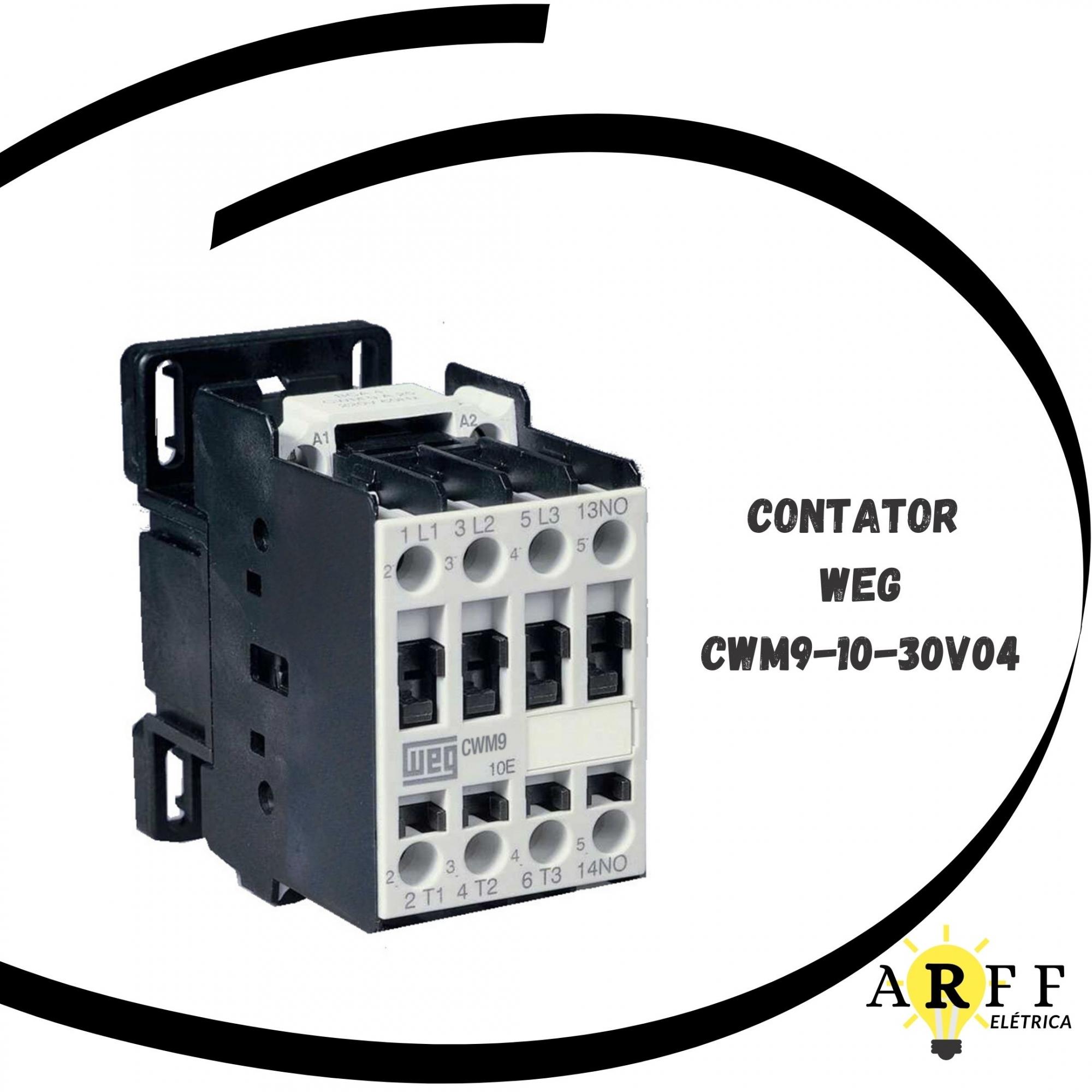 CONTATOR TRIPOLAR WEG MODELO CWM9-10-30V04