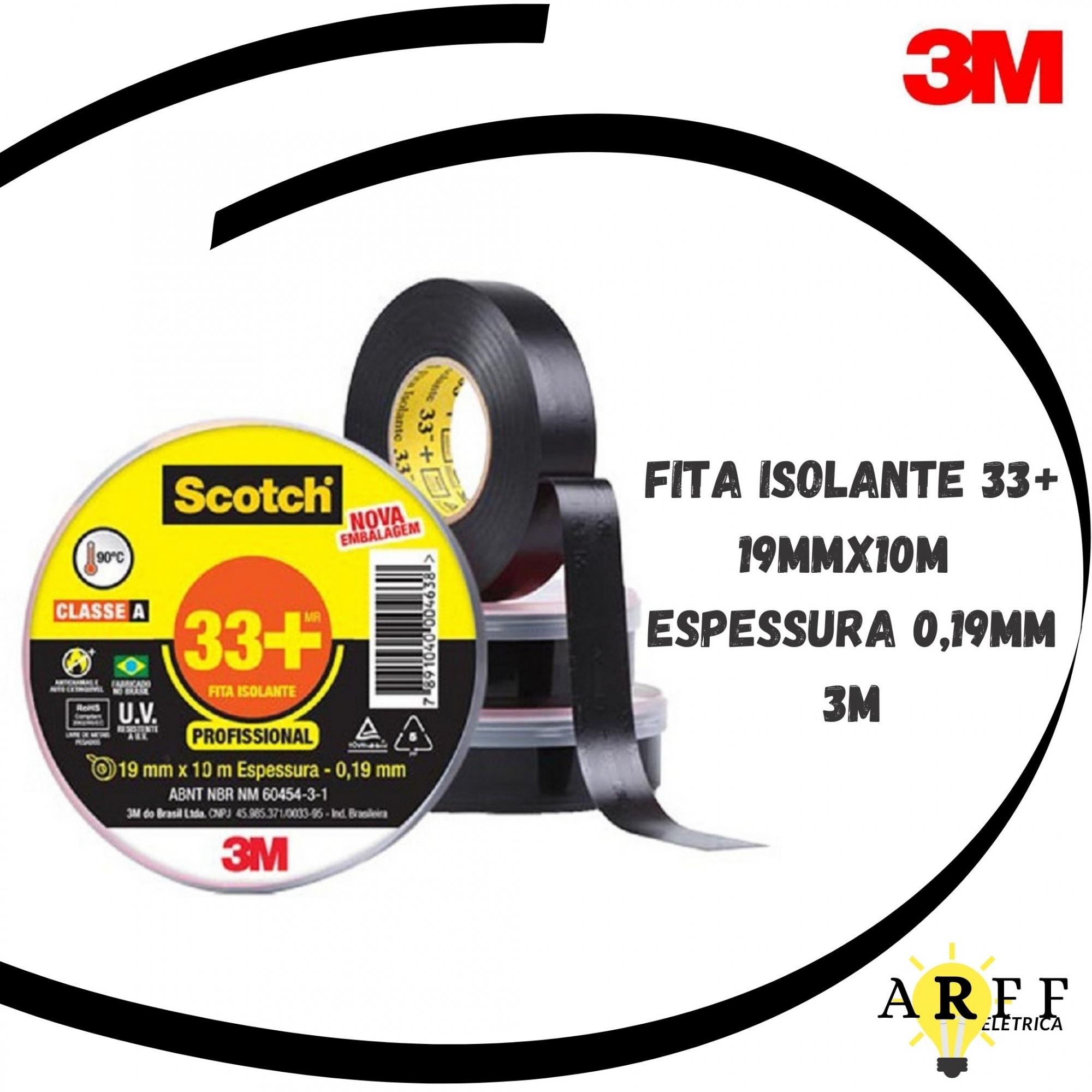 Fita Isolante 33+ 19mmx20m Espessura 0,19mm 3M