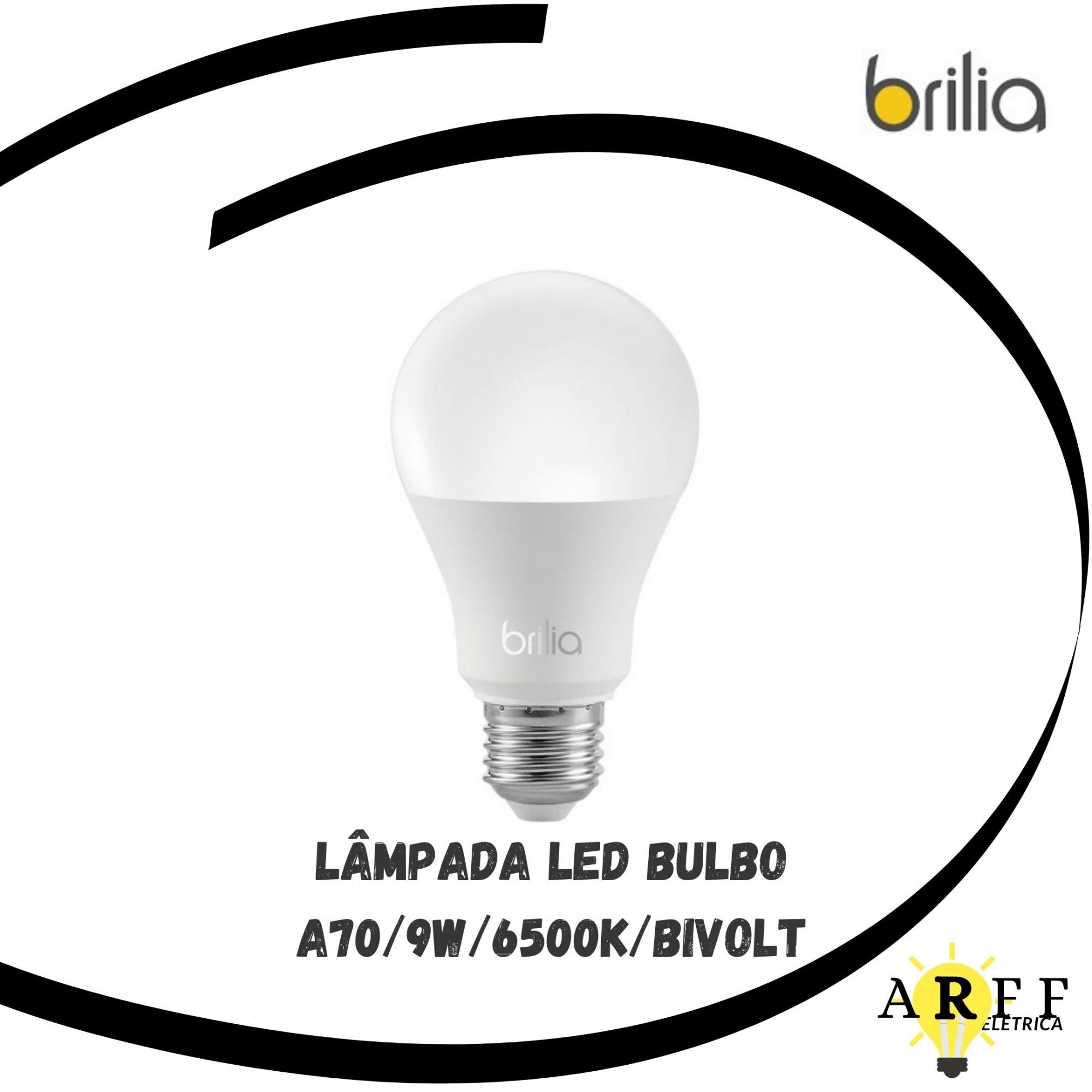 Lâmpada Led Bulbo A70 / 9W / 6500k Bivolt Brilia