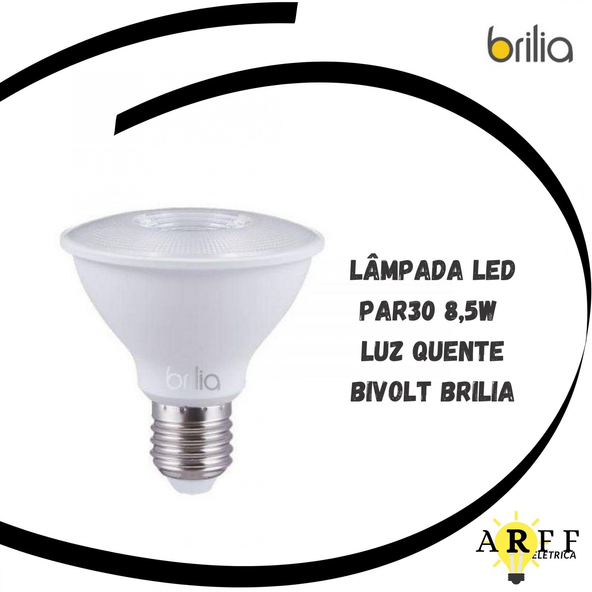 Lampada Led PAR30 8,5W Bivolt E27 Branco Quente