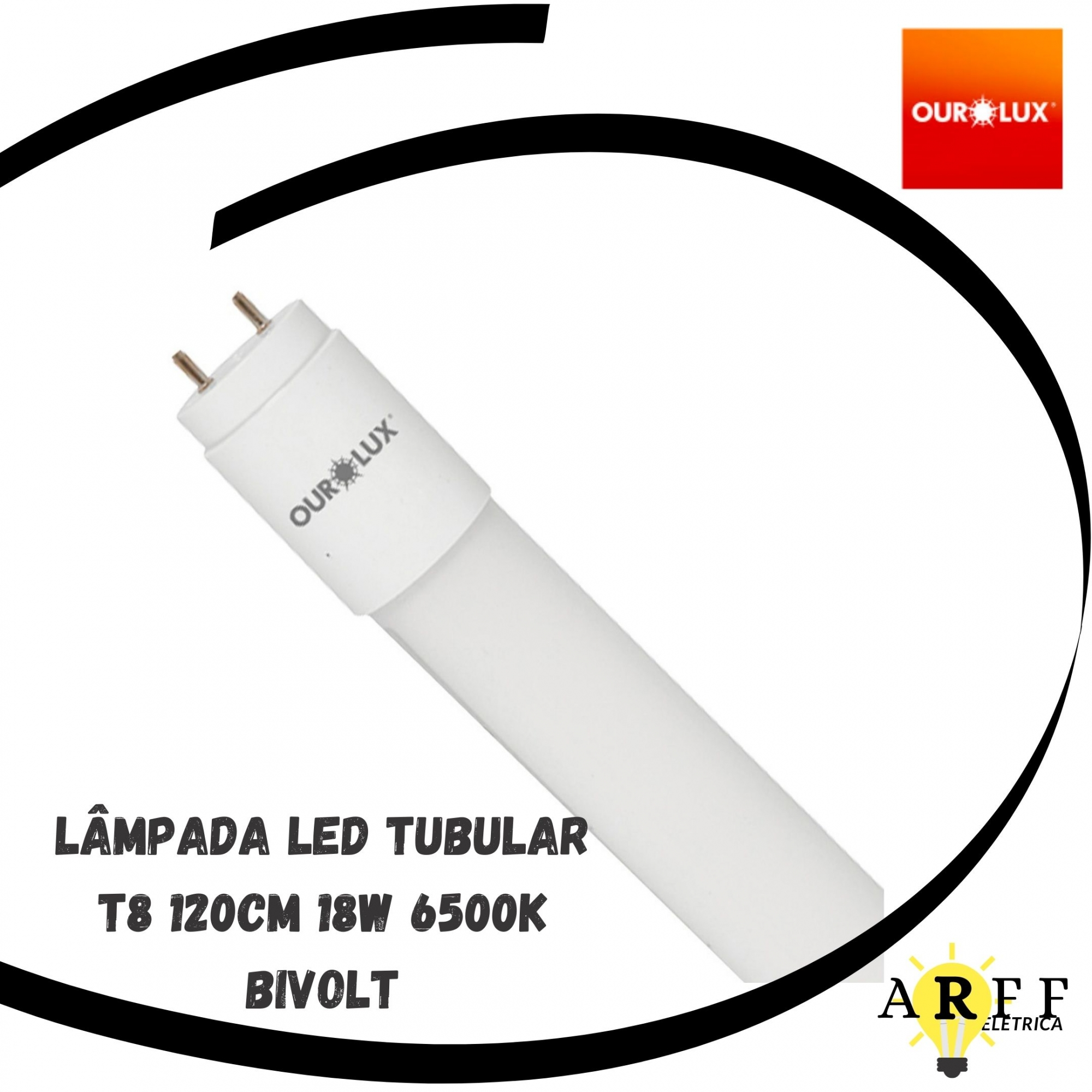 Lâmpada Led Tubular T8 120cm 18W 6500k Bivolt OUROLUX
