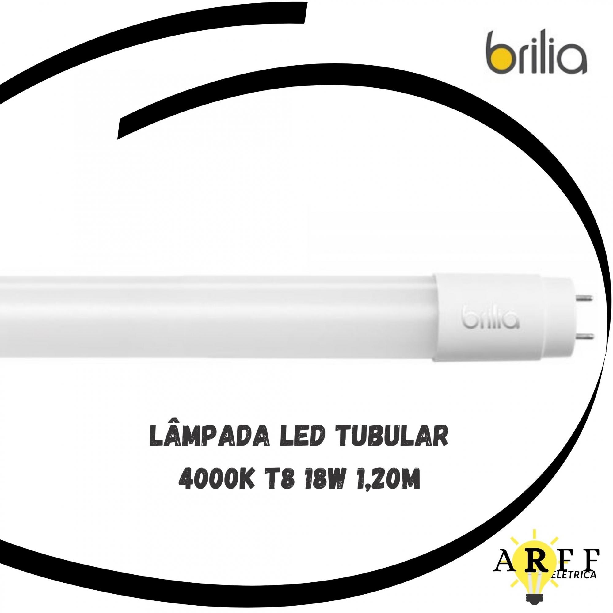 Lâmpada Tubular LED T8 4000K 18W 1,20m BRILIA
