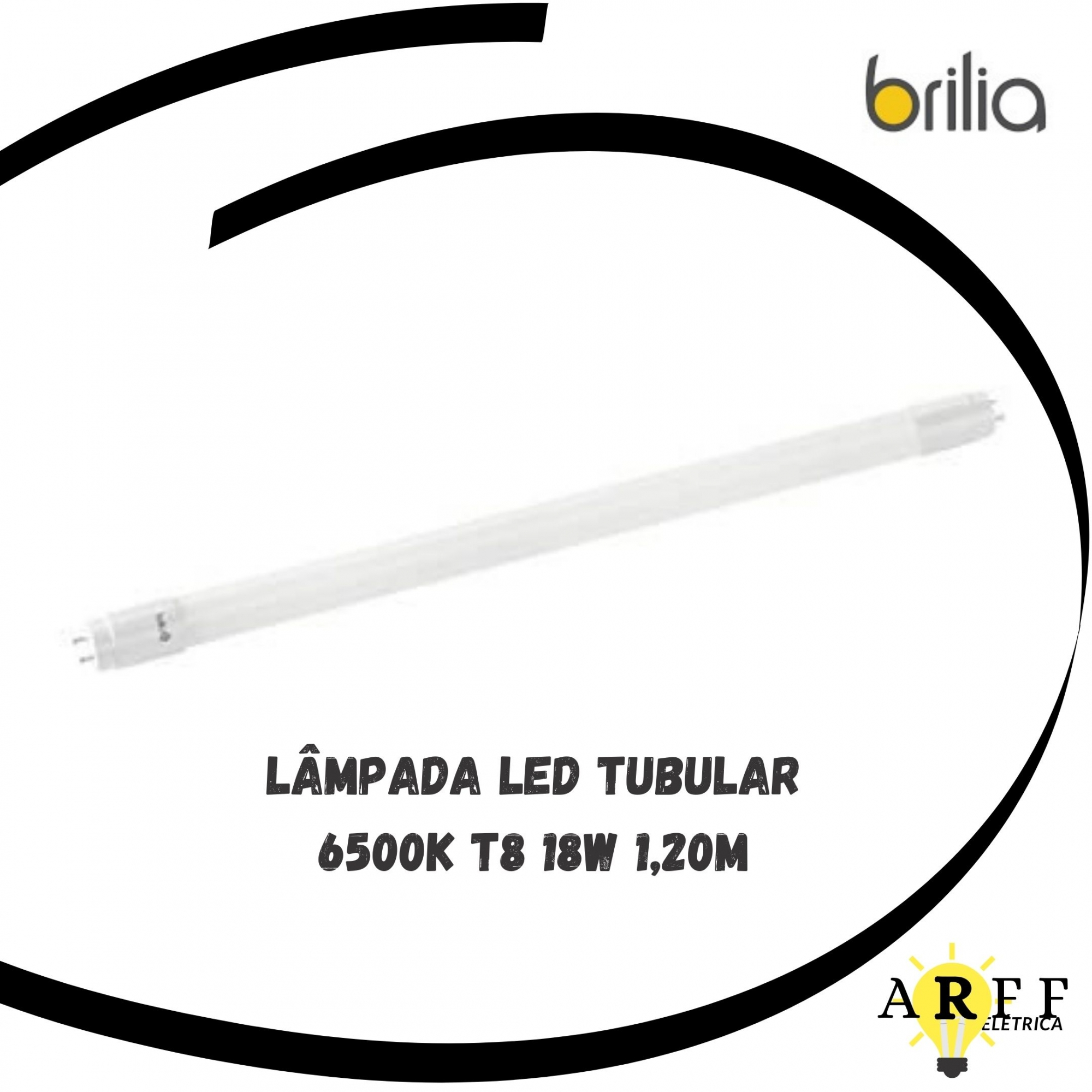 Lâmpada Tubular LED T8 6500K 18W 1,20m BRILIA