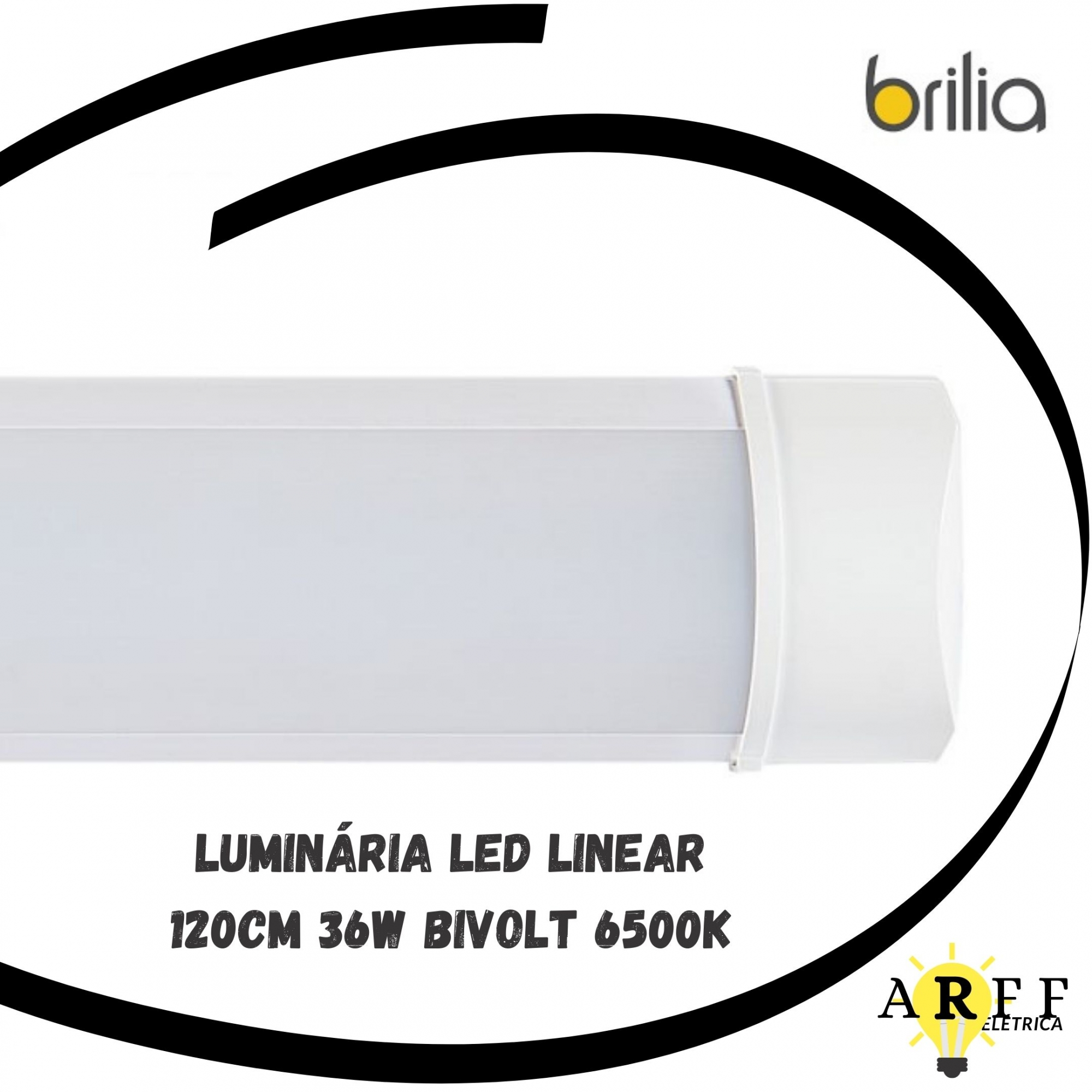Luminária LED Linear 120cm 36W Bivolt 6500k Brilia