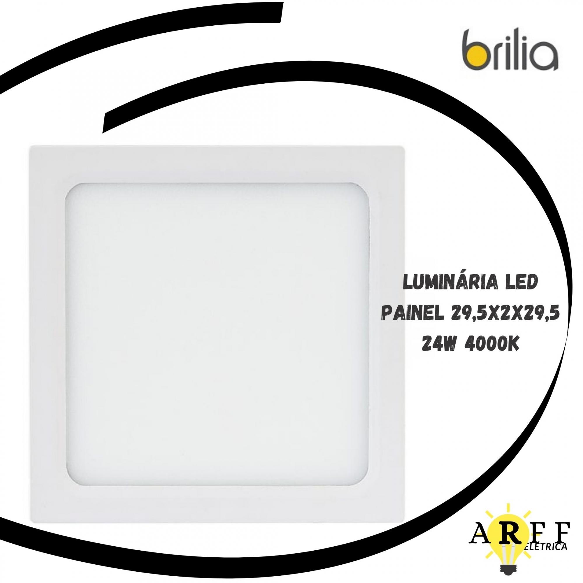 Luminária Painel Led Embutir 24W 4000k 29.5x2x29.5 Brilia