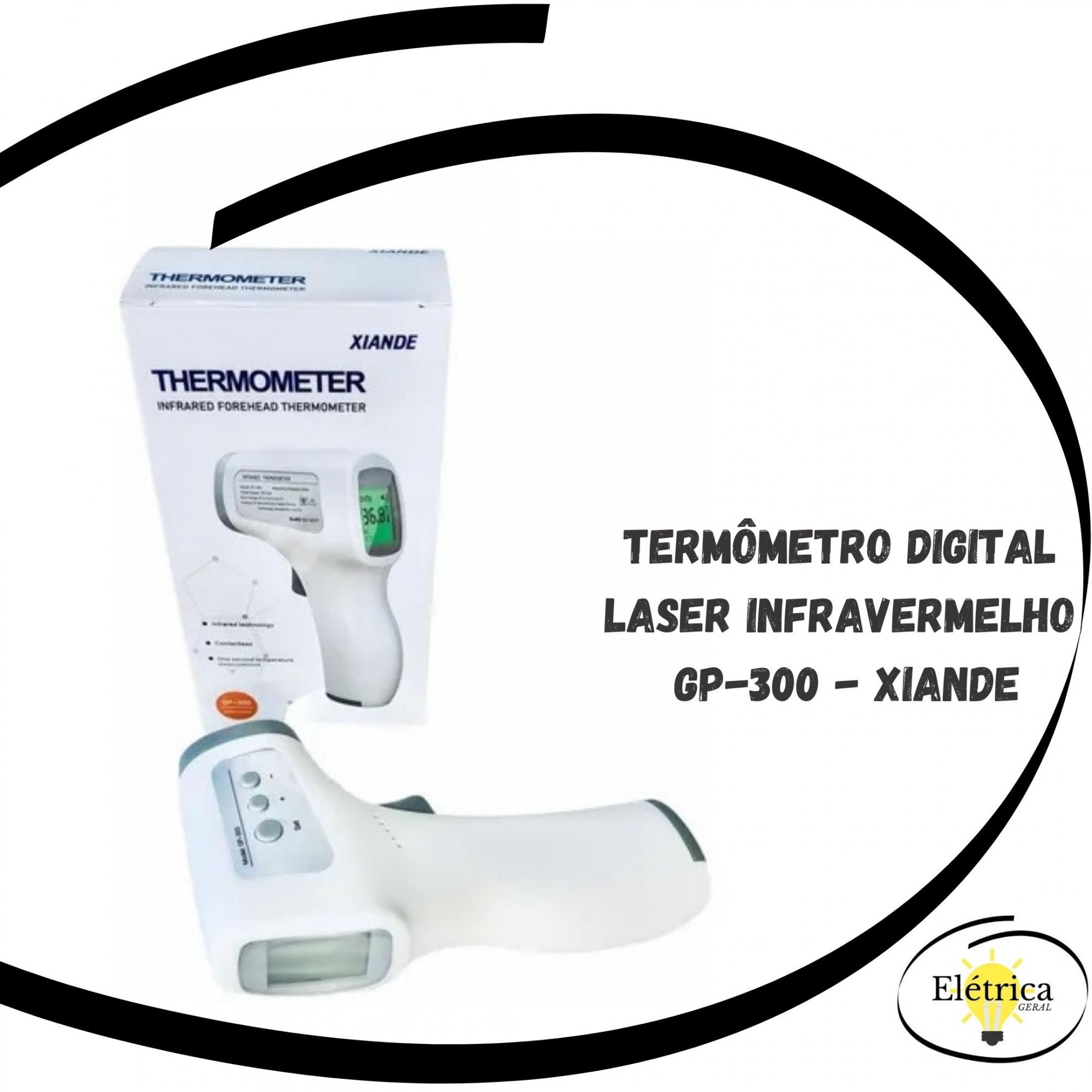 Termômetro Digital Laser Infravermelho Medidor Febre Gp-300 - Xiande