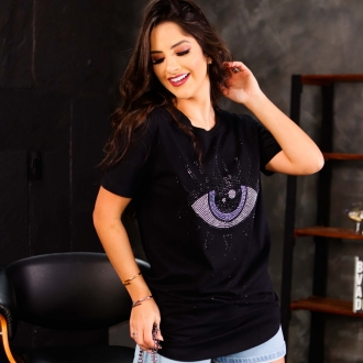 T-SHIRT SWAG OLHO NA PARTE FRONTAL