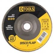 Disco Flap 7 Grão 60  Dtools - 13965