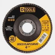 Disco Flap Curvo 4,5 Grão 40  Dtools - 13500