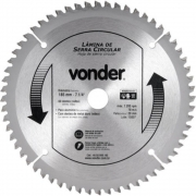 Lâmina de Serra Circular 185x20mm 60 Dentes  Vonder  46.50.060.185