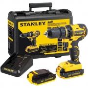 Parafusadeira/Furadeira a Bateria de Íon de Lítio 20V MAX  Stanley - SBD20S2K