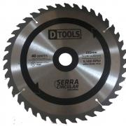 Serra Circular Com Ponta de Vídea 40D 9'' 1/4 x25mm Dtools  13399