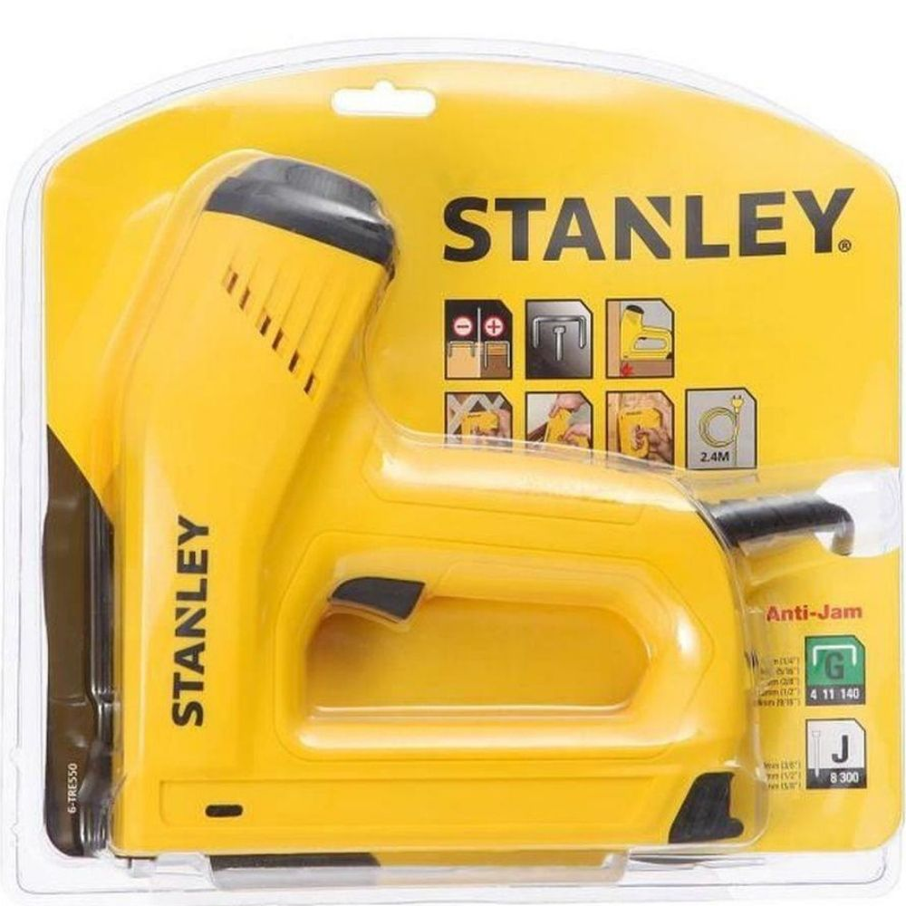 Grampeador Elétrico para Grampos/Pregos 220V - Stanley - TRE550