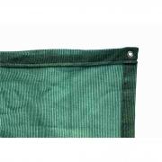 Tela de Sombreamento 80% Verde com Bainha e Ilhós - Largura: 1,5 Metros