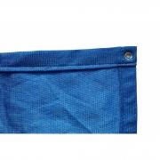 Tela de Sombreamento 90% Azul com Bainha e Ilhós - Largura: 1 Metro
