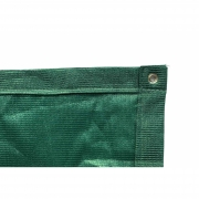 Tela de Sombreamento 90% Verde com Bainha e Ilhós - Largura: 1 Metro